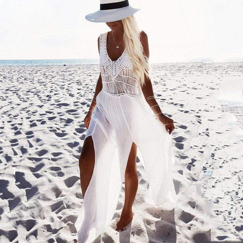 Boho Crochet Beach Cover Up Dress