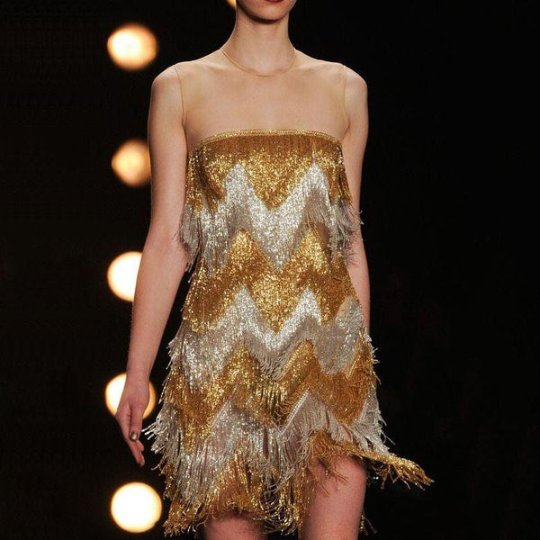 Fashion sequin fringe women's dress