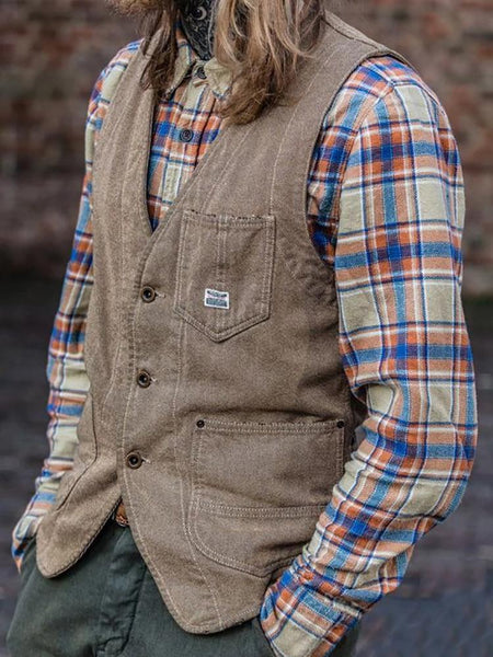 Vintage Casual Single-Breasted Vest