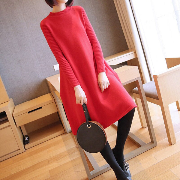 Autumn and Winter New Women's Knit Dress