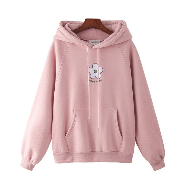 New Style Cotton Korean-style Loose-Fit Embroidered Sleeve Hoodie