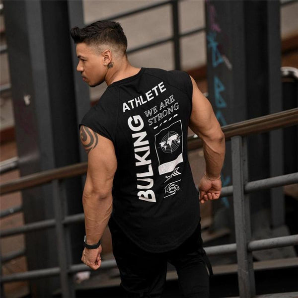 Men Sports Tank Gyms Workout Fitness Bodybuilding Casual Singlet vest