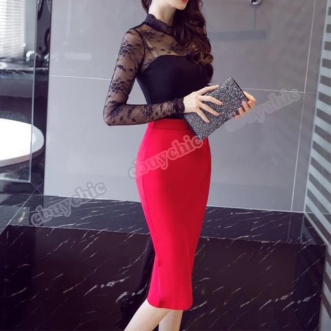 Women 2019 High Waist Casual Summer Sexy pencil Skirts