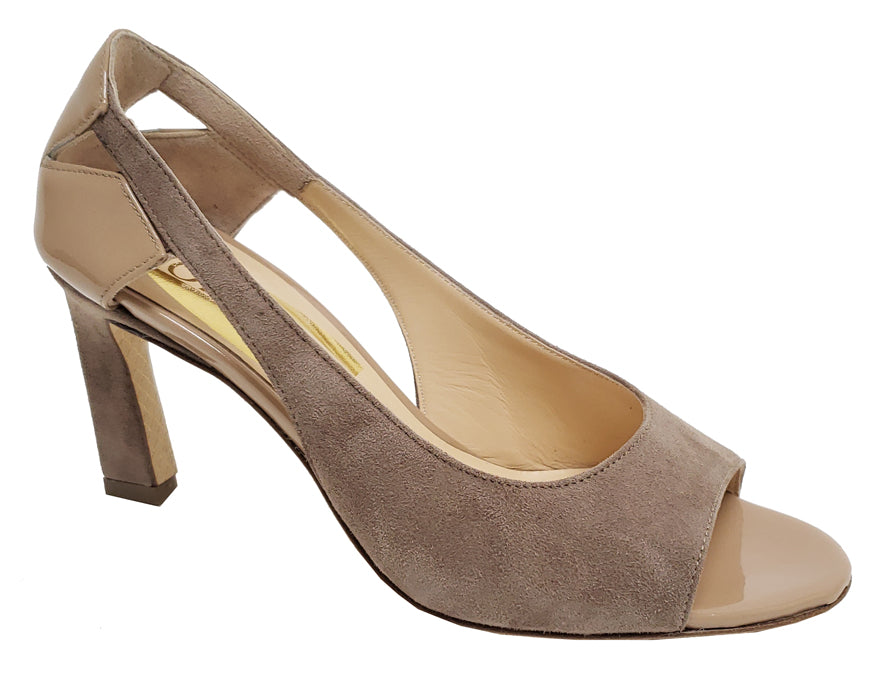 Blossom - Taupe Patent/Suede