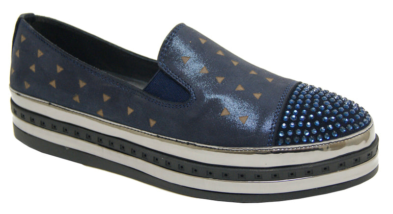 Foot - Metallic Navy