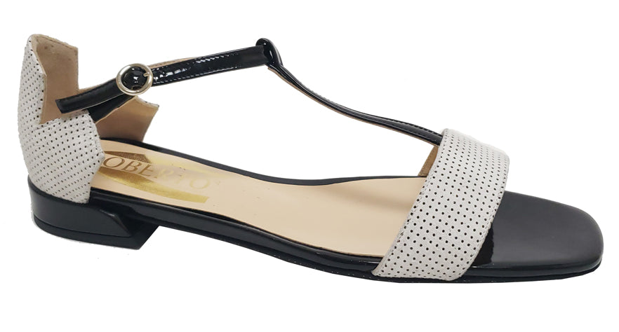 Chloe - Black Patent with Polka Dots