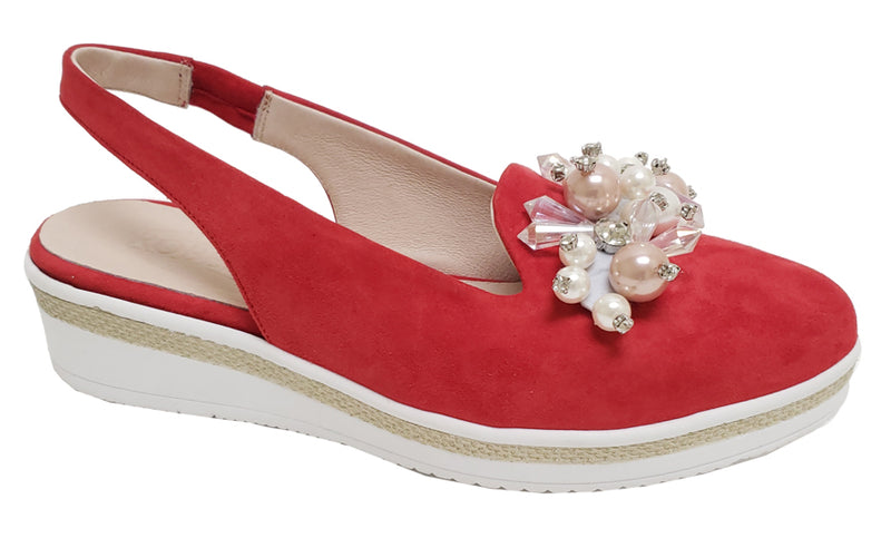 Dany - Red Suede