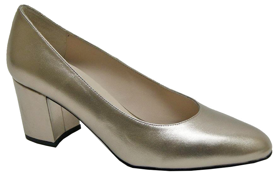 Emir - Light Gold Metallic Leather