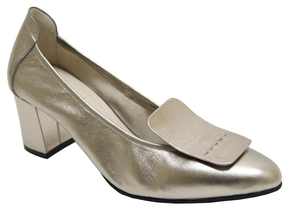 Glory - Light Gold Metallic Leather