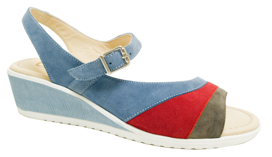 TL-9611 - Blue Mixed Suede