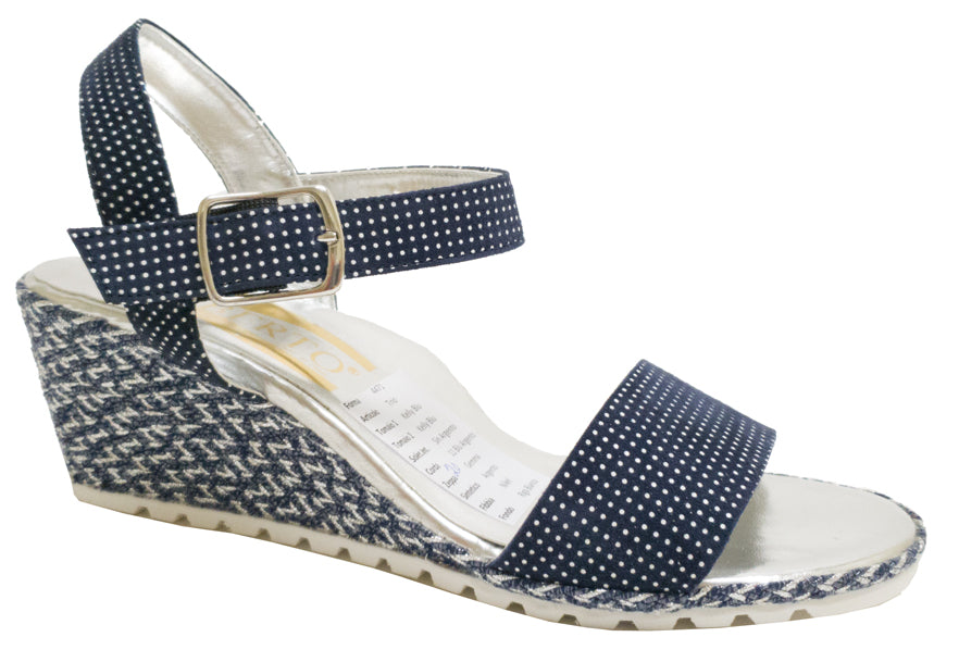 Trio - Navy/White Polka Dots