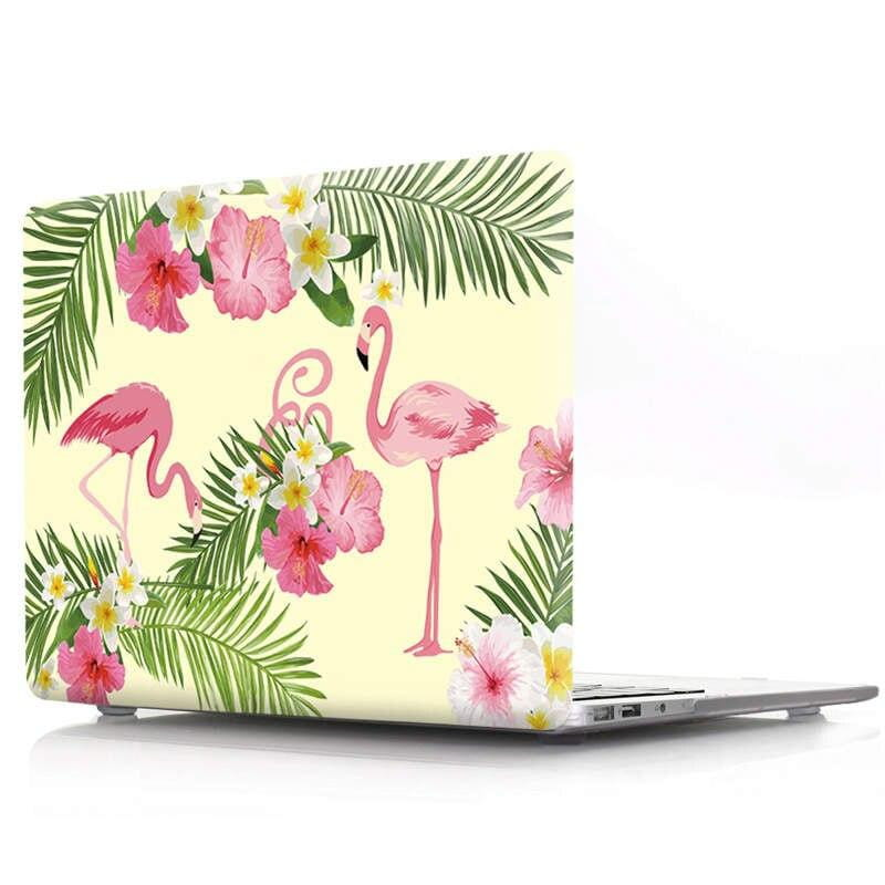 Coque MacBook 15 Été Flamant Rose