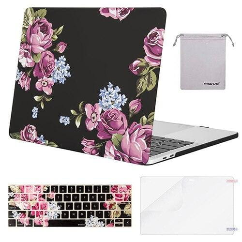 Coque MacBook 13 Fleur rose