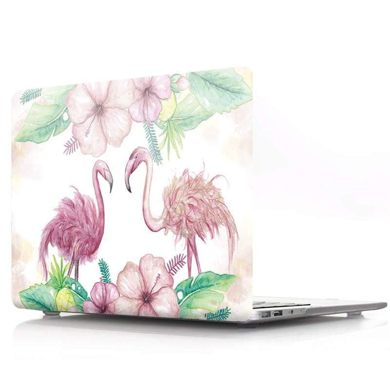Coque MacBook Pro 15 Couple de Flamant Rose Pâle