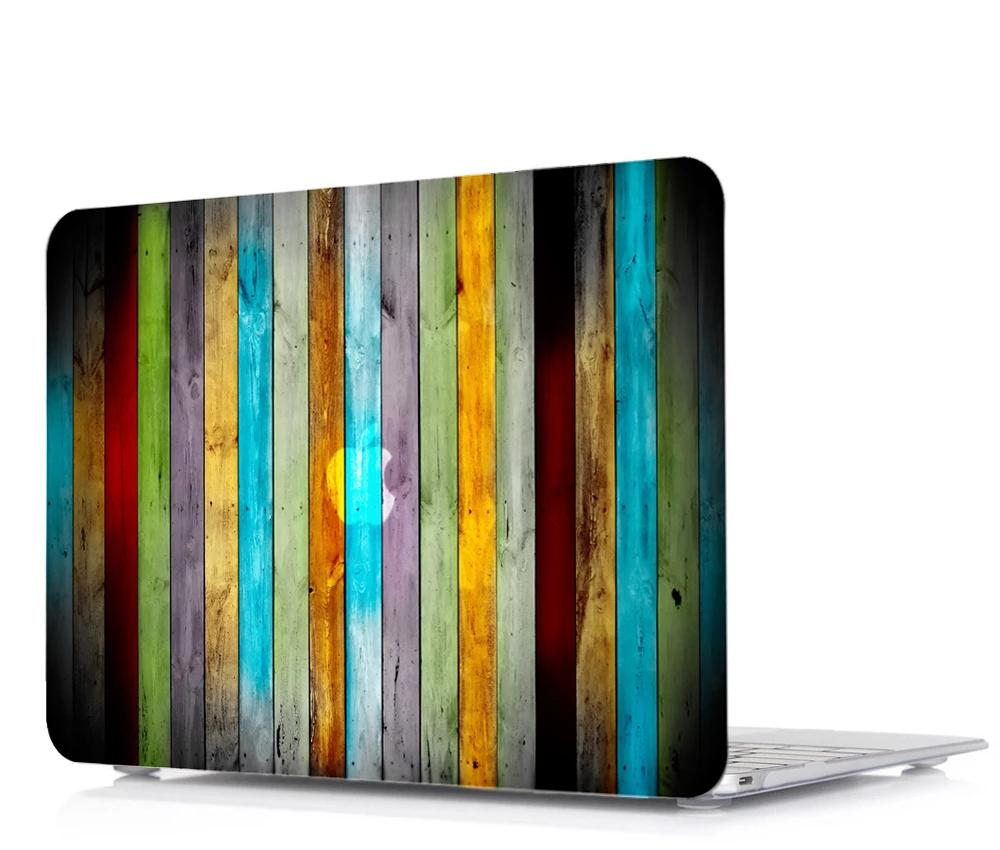 Coque planches striées multicolores  MacBook 15