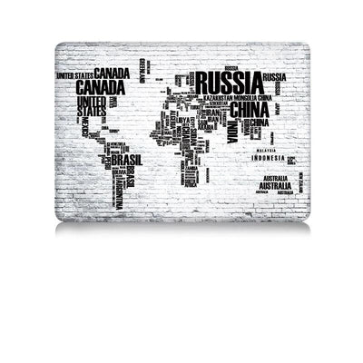 Coque carte du monde MacBook