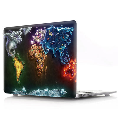Coque Carte du monde en couleurs MacBook 16