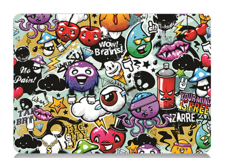Coque cartoon figuratif MacBook 12
