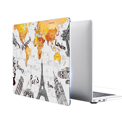 MacBook coque avec monuments
