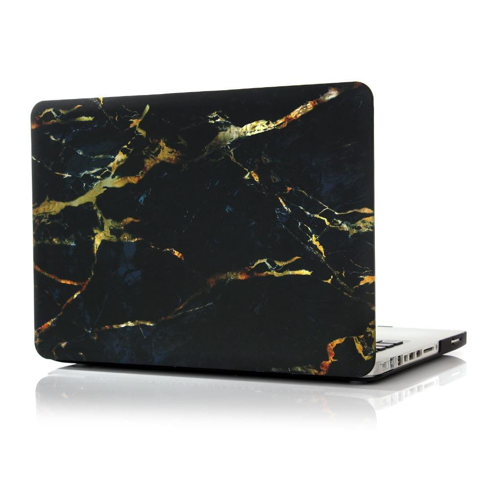 Coque MacBook Pro 15 Marbre et Militaire Noir Or CD ROM