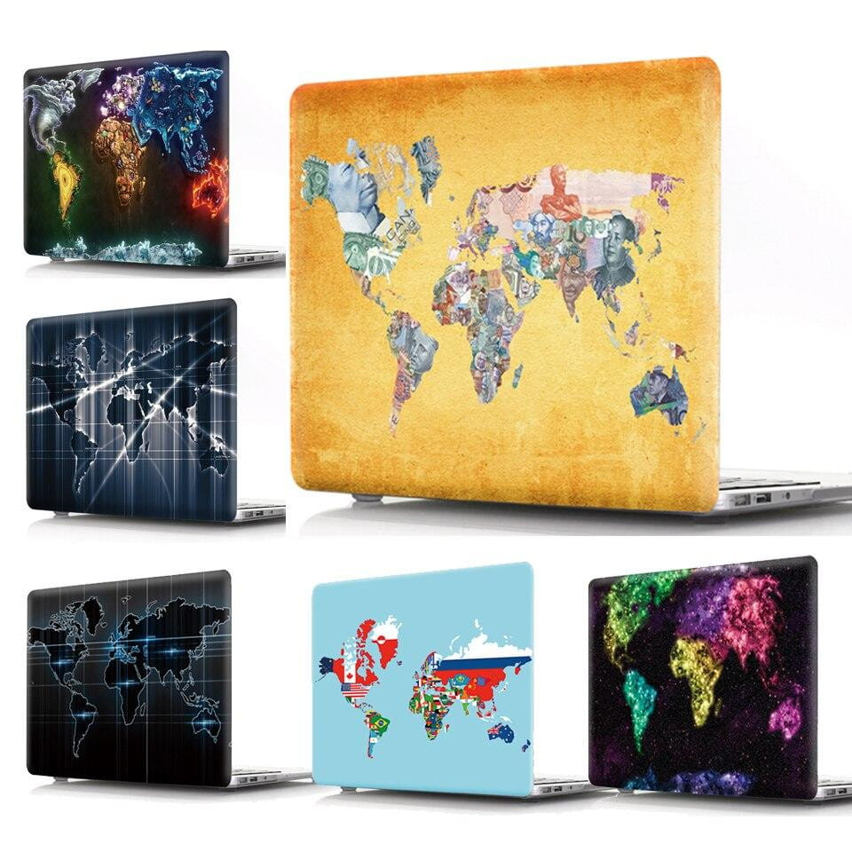 Coque MacBook 13 Carte du Monde