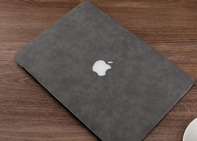 Coque grise macbook pro 13 cuire