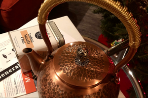 Copper Kettle and Chai Set