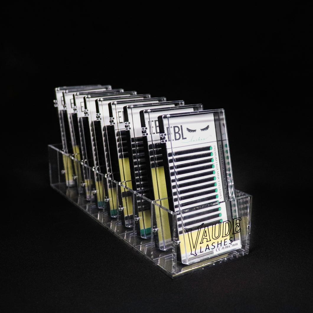 LASH TRAY ACRYLIC STORAGE & DISPLAY - 9 SLOTS