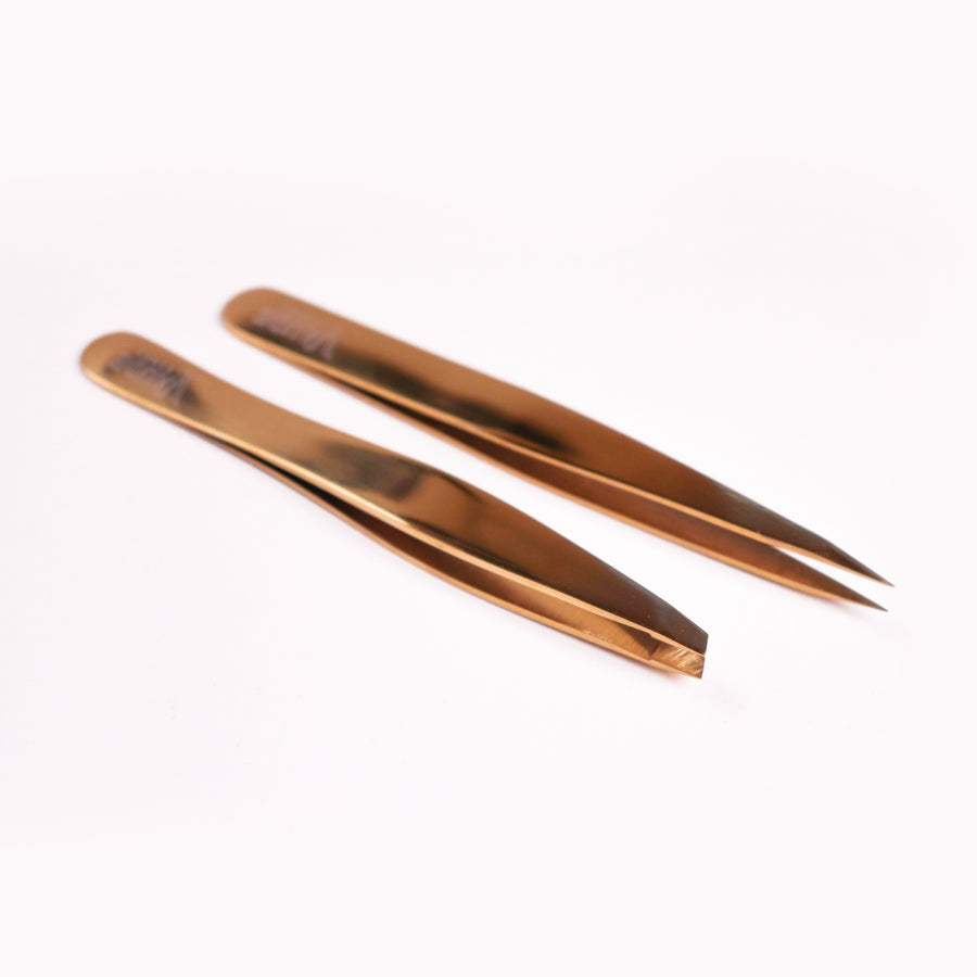PROFESSIONAL EYEBROW TWEEZER DUO