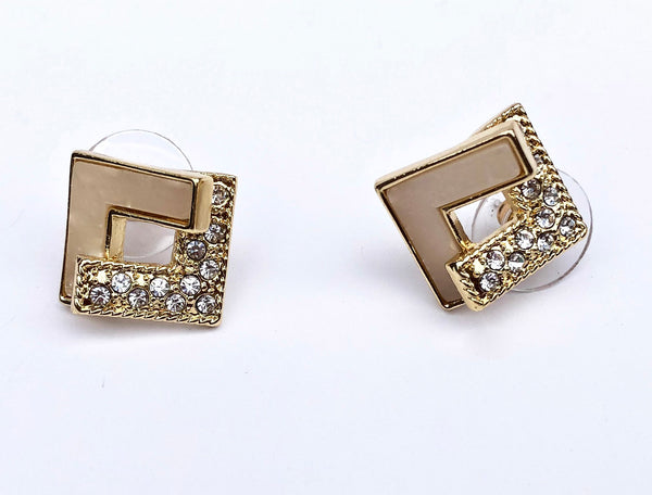 Allison Rose Atelier - INTERNATIONAL Gold Plated Vintage Stud Earrings