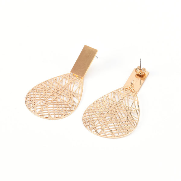 Allison Rose Atelier - Dangle Earrings Geometric Hollow Branch design  Statement Earrings