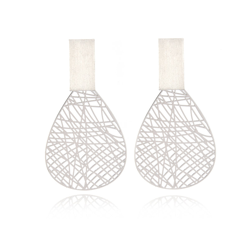 Dangle Earrings Geometric Hollow Branch design  Statement Earrings