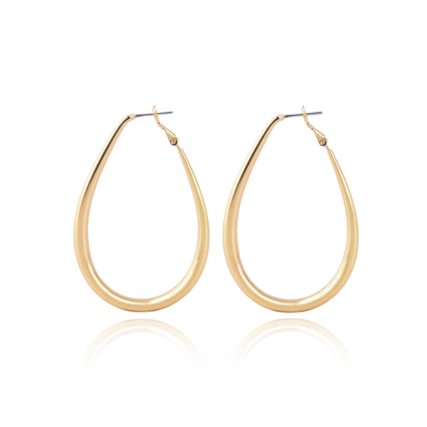 Allison Rose Atelier - Bold Oval Hoop Earrings with Steel Posts