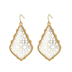 Two-Tone Gold and Silver Dangle 2 Earrings - International