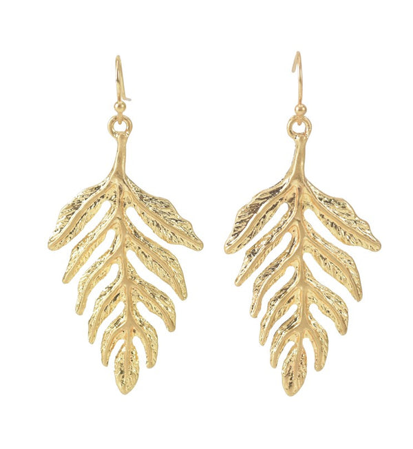 LEAF DANGLE EARRINGS - Chic Boho Styling