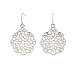 Boho Round Filigree Drop Earrings
