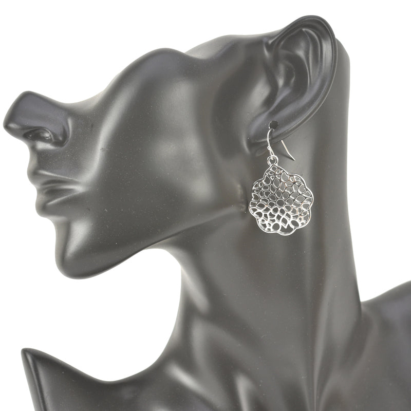 Allison Rose Atelier Woman's - Bohemian Drop Earrings - Filigree Cutout Round Shap