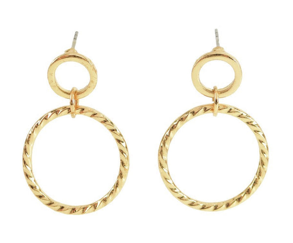 Allison Rose Atelier-INTERNATIONAL Braided Circle Drop Hoop Earrings