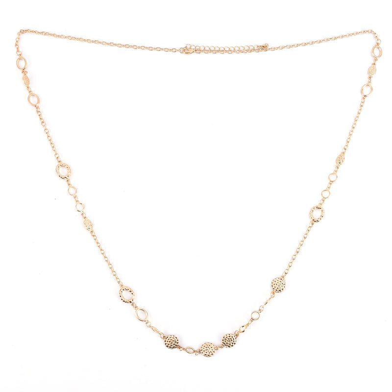 Chain Necklace for Women – with Hammered disks