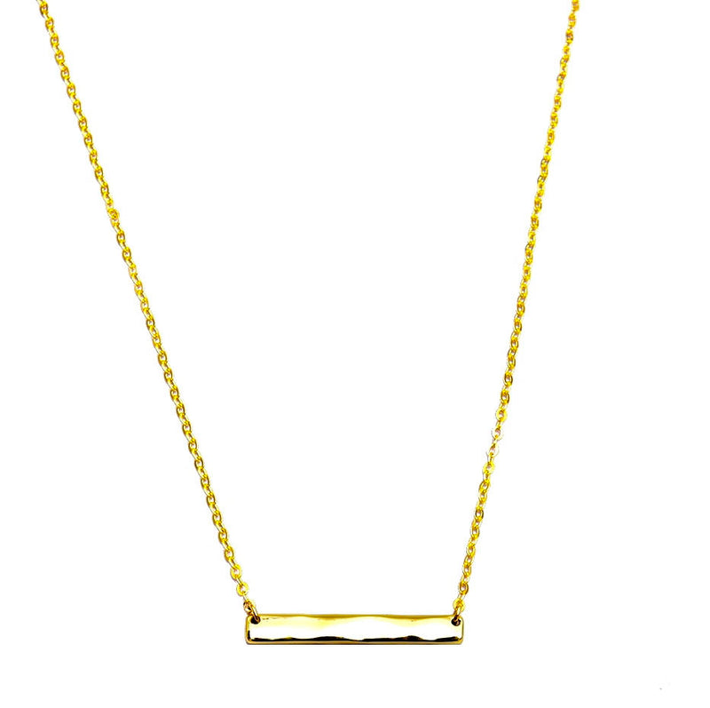 Dainty Layered Choker-Pendant Necklace - Three Layered Necklace. 16K Gold Plated. Five Beads and Multilayer Bar Disc Necklace