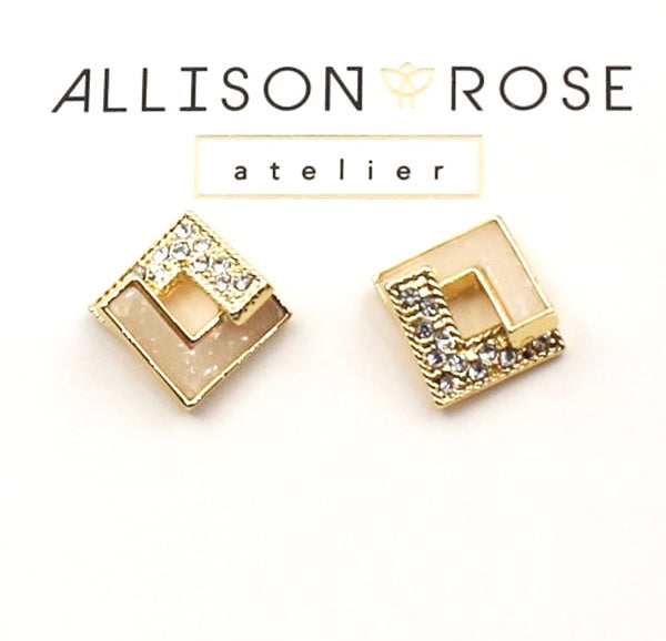 Allison Rose Atelier - Gold Plated Vintage Stud Earrings