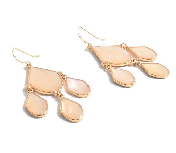 ALLISON ROSE ATELIER Petal Pink Dangle Earrings with Pink Shell Stone and gold plated  for Woman