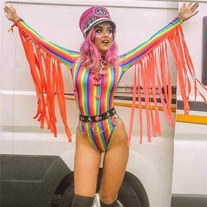 Colorful Rainbow Stripes Bodysuits