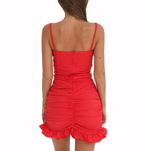 Backless Cross Red Party Dress