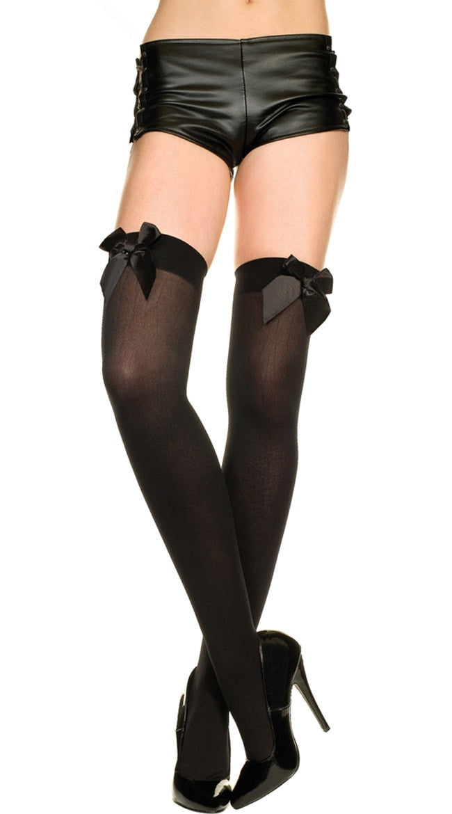 High Stockings With Bows