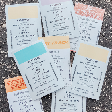 Mountain FastPass Sticker Pack - Charming Rose Supply Co.