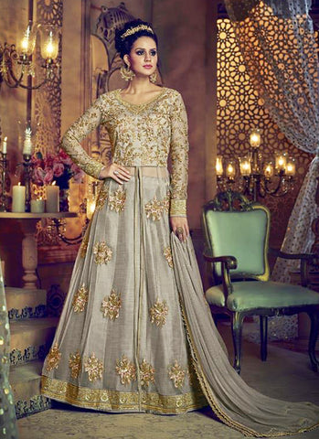 0a23075fe41150 Cloudy Grey Embroidery Anarkali Salwar Suit. Cloudy Grey Embroidery  Anarkali Salwar Suit. From $165.00 · Coin Grey Multi Color Ikat Collard  Ready to Wear ...