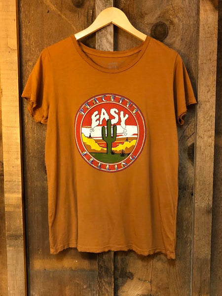 Peaceful Easy Feeling Women's Tee Cognac/Color