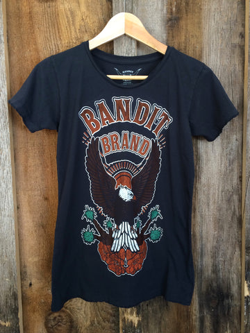 Yucca Valley Womens Tee Blk/Multi