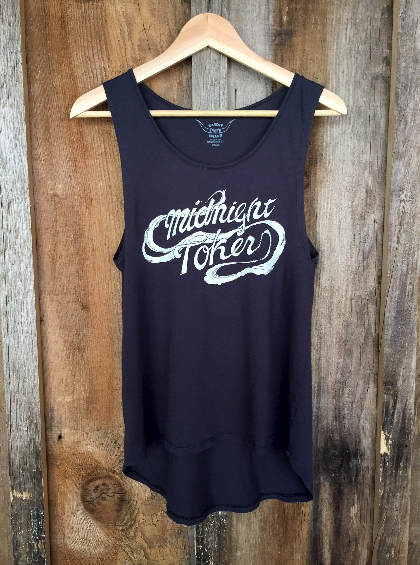 Midnight Toker Long Tank Blk/White